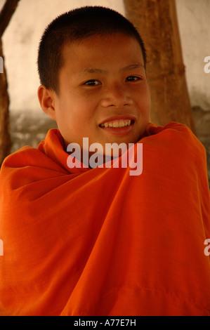 Buddhist monks in Laos - Stock Photo