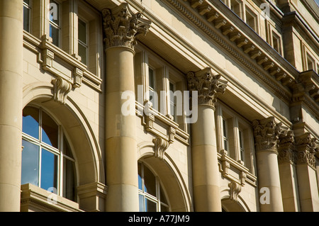 Detail from the Royal Exchange building, St. Ann's Square, Manchester, England, UK - Stock Photo