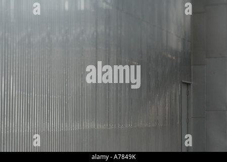 Architectural detail, metal wall - Stock Photo
