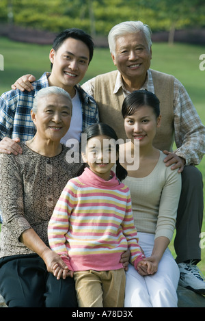 Three generation family, portrait