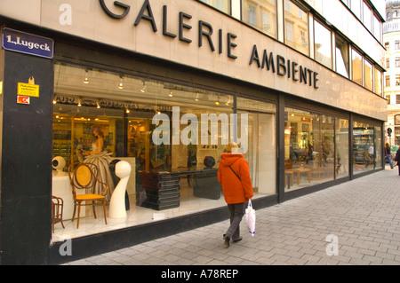 Galerie Ambiente in central Vienna Austria EU - Stock Photo