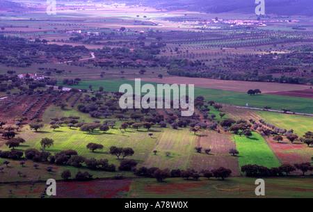 Alentejo South of Portugal Multicolored landscape - Stock Photo