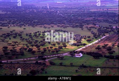 View from Monsaraz village Alentejo South of Portugal - Stock Photo