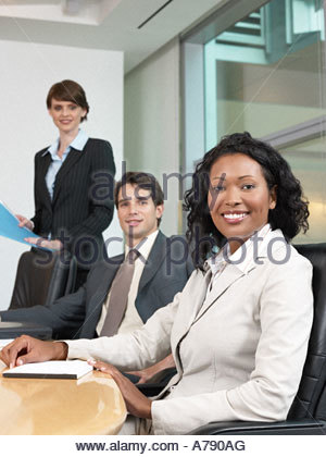 Colleagues in a meeting - Stock Photo