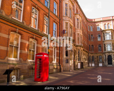 The Broadway, on a Quiet Day in the Lace Market Area of Nottingham City Centre, UK - Stock Photo