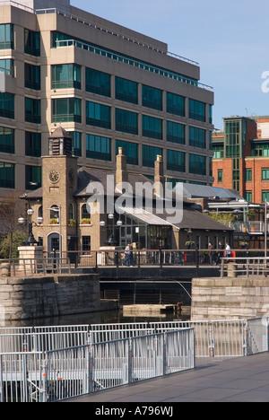 Restaurant by the Docks, Docklands, Dublin, Ireland Stock ...