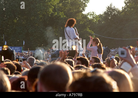 Queen concert with guitarist Brian May - Stock Photo
