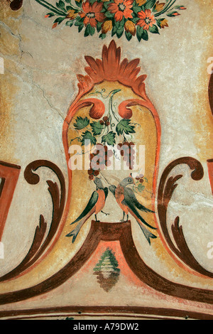 fresco the holy Bible icon iconic graphic picture Rila Monastery Rhodope massif Pirin Mountains Republic Bulgaria - Stock Photo