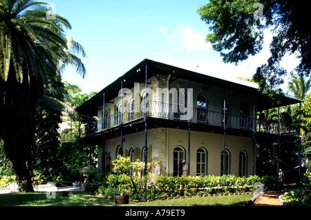 Villa Ernest Miller Hemingway Key West Florida - Stock Photo