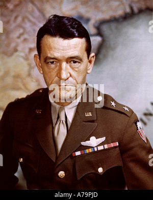CLAIRE LEE CHENNAULT  1893 to 1958 US as Lieutenant General of US Army Airforce about 1943 - Stock Photo