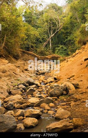 The dry river bed riverbed river bottom of NALEMORU RIVER Oloitokitok LOITOKITOK kenya East Africa - Stock Photo