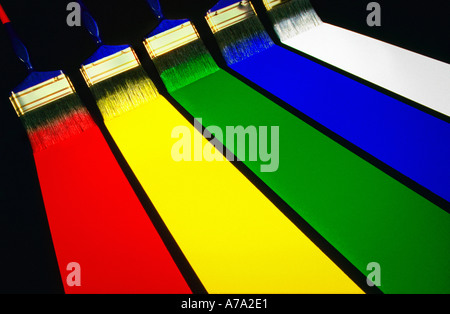 Paint spectrum - Stock Photo