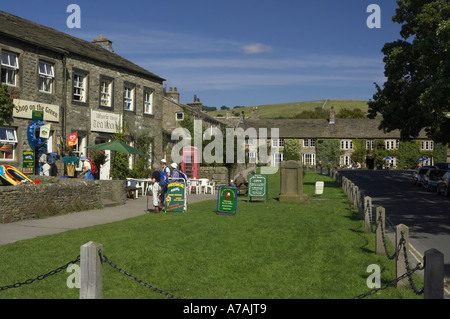 Shop On The Green. Burnsall Village. Yorkshire Dales National Park.