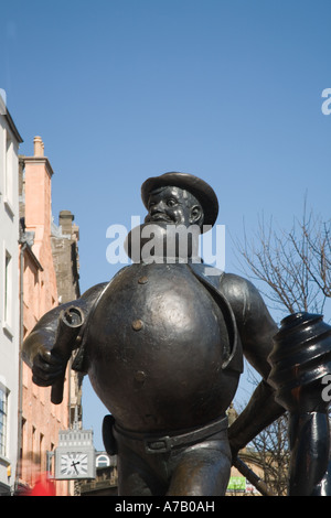 Desperate Dan is a wild west character in the British comic The Dandy , this statue in Dundee City centre Tayside - Stock Photo