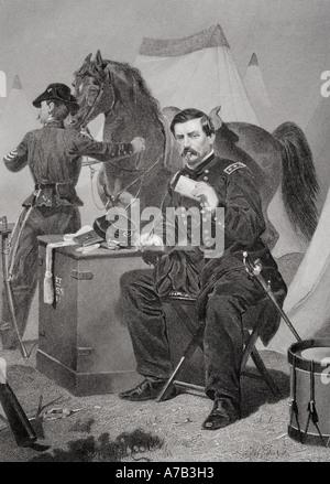George Brinton McClellan 1826 1885  American soldier, civil engineer, railroad executive, politician and Union general - Stock Photo