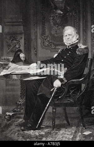 Winfield Scott 1786-1866. American army officer who held rank of General in three wars - Stock Photo