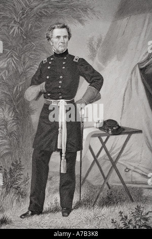 Ormsby McKnight Mitchel 1810 to 1862 American lawyer and Union Major General during Civil War - Stock Photo