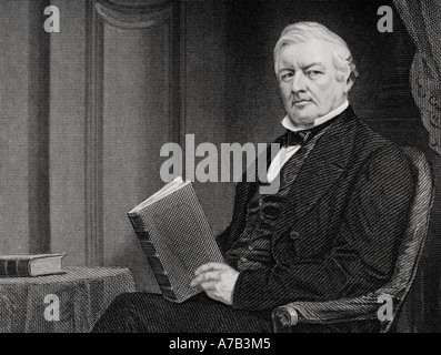 Millard Fillmore 1800 to 1874 13th president of the United States 1850 53 From painting by Alonzo Chappel - Stock Photo