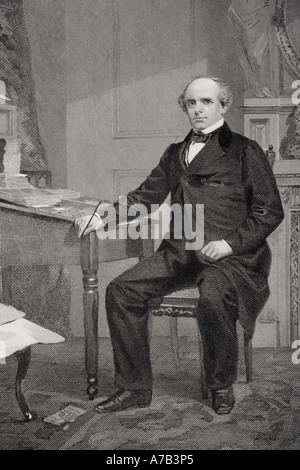 Salmon Portland Chase, 1808 - 1873. American lawyer, politician and anti-slavery leader. - Stock Photo