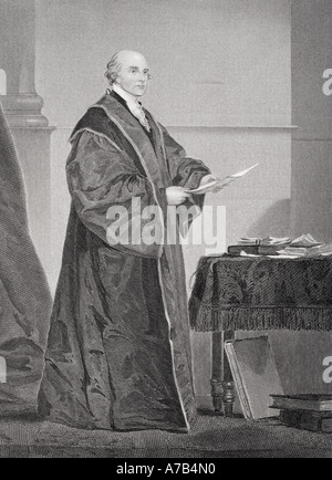John Jay 1745 1829 U S jurist and first chief justice of the Supreme Court - Stock Photo