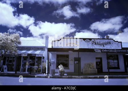 High street of Strathalbyn near Adelaide in South Australia - Stock Photo
