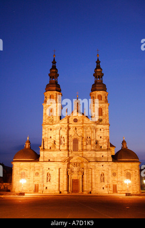 4205 Germany Hesse Cathedral in the city of FULDA - Stock Photo