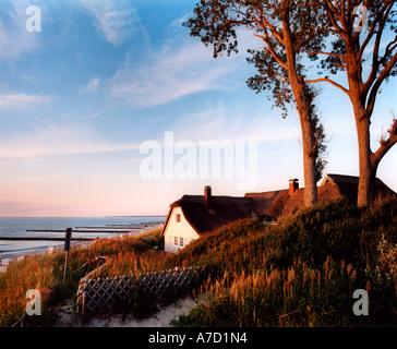 4019 Germany Mecklenburg Vorpommern Baltic Sea coastline landscape near Ahrenshoop - Stock Photo