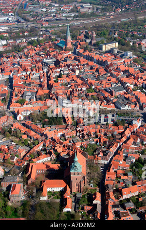 4415 Germany Lower Saxony aerial view of LUENEBURG - Stock Photo