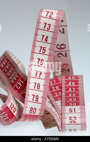 Measuring tape, metric tape measure for needlework, sewing work etc.. - Stock Photo