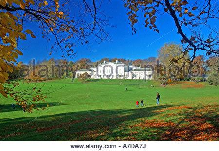 Hampstead Heath & Kenwood House in Autumn - Stock Photo