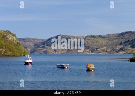 Loch Morar at Bracora in Lochaber in the Scottish Highlands Inverness-shire.   XPL 6336 - Stock Photo