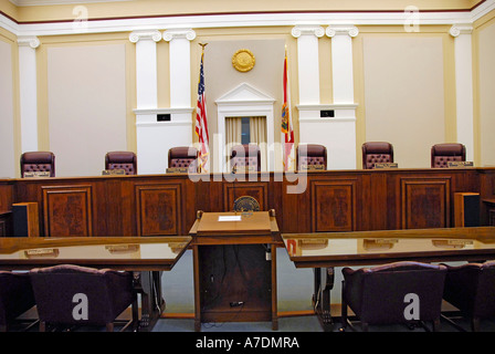 Inside The State Supreme Court Building Tallahassee Florida - Stock Photo