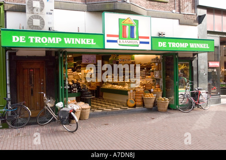 Kaashuis Cheese House shop in Haarlem North Holland - Stock Photo