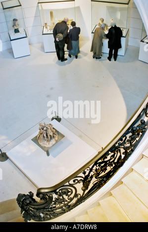 Senior Tourists in Paris France, Interior Stairway in Museum the 'Petit Palais' 'Musée des Beaux Arts de la Ville - Stock Photo