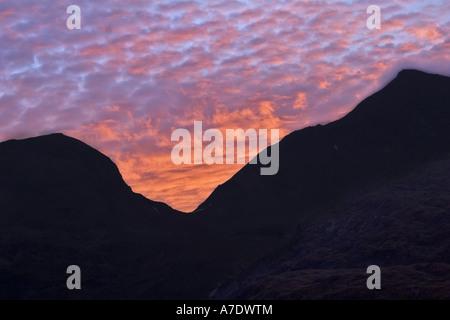 sunrise at the Grossglockner, Austria, Eastern Tyrol, National Park Hohe Tauern - Stock Photo
