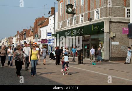 Marks and Spencer shop. Newbury Berkshire England UK. shopfront - Stock Photo