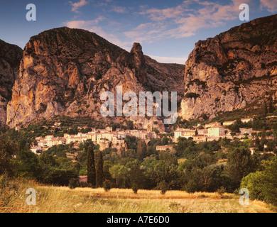 Moustiers Sainte Marie Alpes de Haute Provence Provence France - Stock Photo