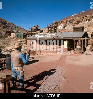 Calico Ghost Town, a former silver mining town, Yermo, California, USA - Stock Photo