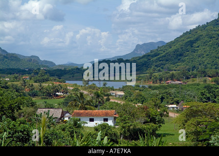 Cuba - landscape in the Vinales valley, Cuba - Stock Photo