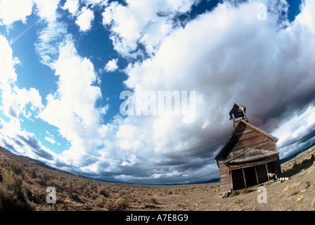 Historical School House in Central Oregon - Stock Photo