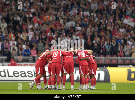 VfB Stuttgart tuning in for the match - Stock Photo