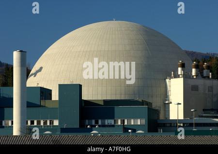 Reactor dome, Nuclear power plant Goesgen, Switzerland - Stock Photo