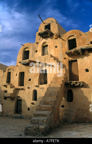 Fortified Grain Stores Ksar Ouled Soltane Tataouine Tunisia Africa  - Stock Photo