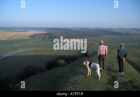 Cuckmere Valley East Sussex - Stock Photo