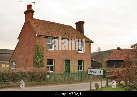 Fingest Farm in the Chiltern Hills - Stock Photo