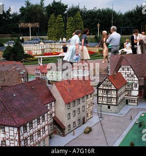 D-Ratingen, Anger, Schwarzbach, Bergisches Land, North Rhine-Westphalia, Ratingen-Breitscheid, the miniature town - Stock Photo