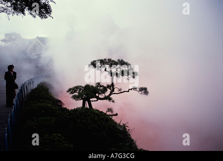 The hot spring of Chi-No-Ike Jigoku or Blood Hell in Beppu in Japan - Stock Photo