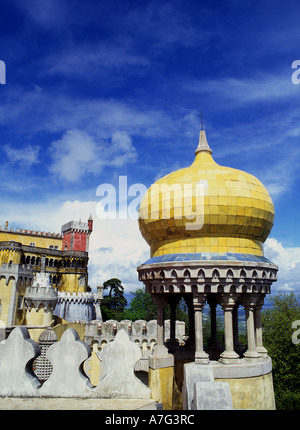 Pena Palace Sintra Near Lisbon Portugal - Stock Photo