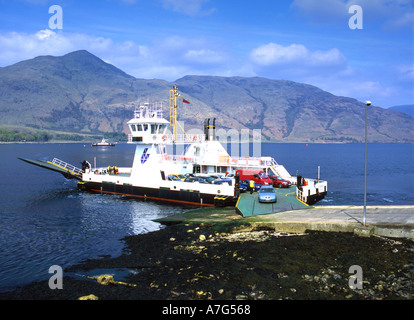 Corran Ferry at the pier near Fort William in Scotland - Stock Photo
