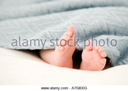 A baby sleeping - Stock Photo